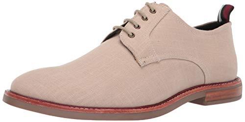 Ben Sherman Mens Brent Plain Toe Natural Linen Oxford Dress Shoe Size 10.5