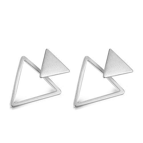 Lotus Fun S925 Sterling Silber Ohrringe Mode Geometrie Dreiecke Ohrstecker Ohrringe Natürlicher Kreativ Beliebt Handgemachter Einzigartiger Schmuck für Frauen und Mädchen