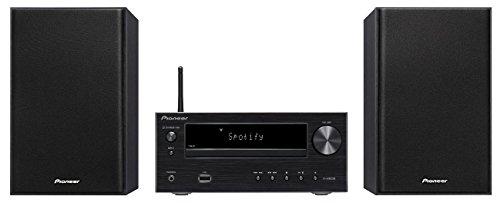 Pioneer X-HM36D(B) Microsystem mit Zweiwege-Boxen (Bluetooth, FM-Radio, DAB+, CD, MP3-USB, Fernbedienung, Timer- und Weckfunktion) Schwarz