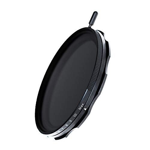 JONGSUN Filtro ND Variable 77mm, S-Pro MRC 16 Capas Nano Revestimientos, Más De 10 Topes ND2-ND1000 Graduado, Filter Densidad Neutra Cámara