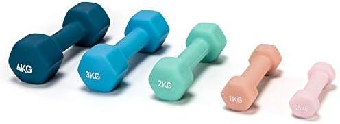 Bad Company Neopren Hanteln I Kurzhanteln f/ür Aerobic Gymnastik und Fitness I 2er Set 0,5kg bis 5kg I Diverse Sets 3kg bis 39kg