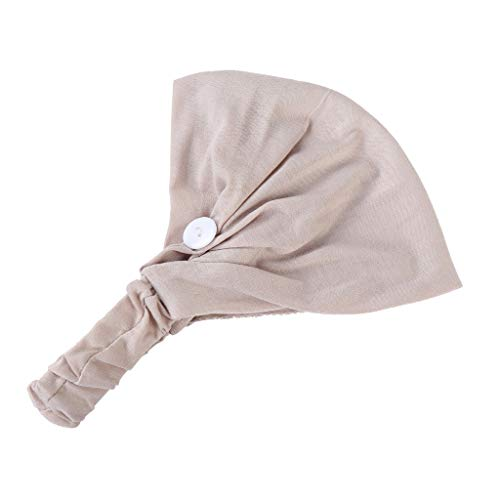 Bluestercool Bandeaux pour Femmes Hommes Bouton pour Support de Masque écharpe Yoga Sport Workout Turban Head Wrap empêcher Les blessures aux Oreilles Haute élasticité