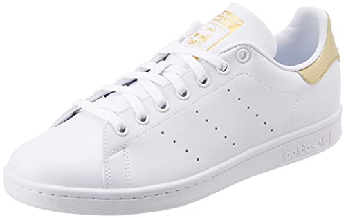 adidas Stan Smith W, Scarpe da Ginnastica Donna, Ftwr White/Ftwr White/Gold Met, 39 1/3 EU