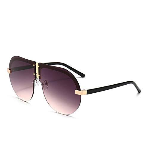 TYOLOMZ Personalized Big Frame Men's Frameless Mirror Outdoor Windproof Irregular Glasses Goggles Uv400