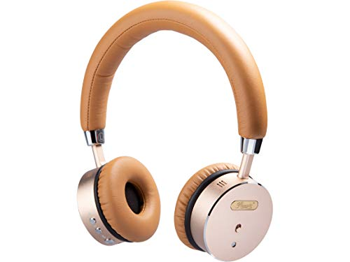 Rosewill Metallic On-Ear Bluetooth Active Noise Cancelling Headphones with up to 16 Hours of Playtime, 33 feet Range and 40mm Driver (RW-TH68N)