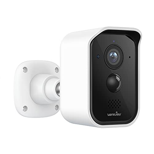 Wireless Security Camera Outdoor, Wansview 1080P HD Wireless Rechargeable Battery Powered WiFi Home Security Camera with PIR Motion Detection, 2 Way Audio, Waterproof, Cloud Storage B3