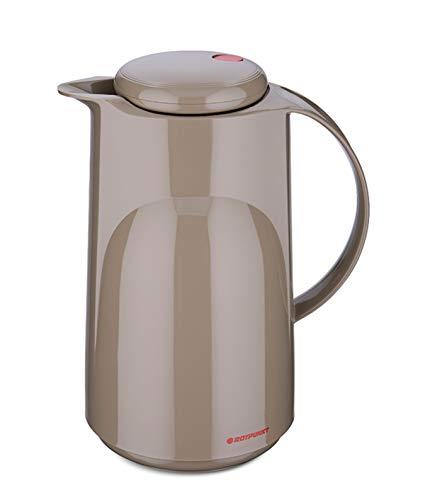 ROTPUNKT Isolierkanne 300 Marla 1,0 l | Zweifunktions-Drehverschluss | BPA Frei- gesundes Trinken | Made in Germany | Warm + Kalthaltung | Glaseinsatz | Creamy Hazelnut