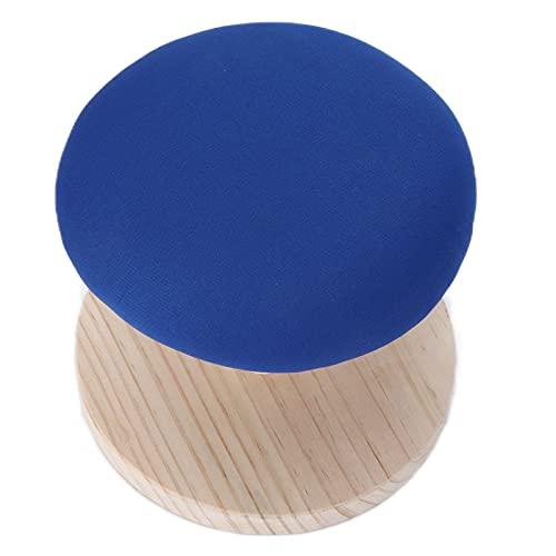 Liyong Mesa De Planchado, Tabla De Planchar Buen Diseño De Borde Elástico Diseño Sin Deslizamiento con Material De Madera De Pino para Espacios Pequeños(Taburete de Planchar Redondo)