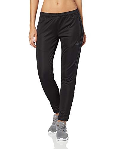 adidas Women's Soccer Tiro 17 Training Pants, Black/Dark Shale, Large