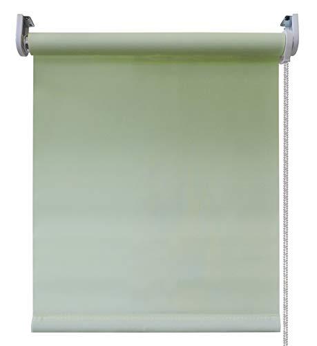 Gemakkelijk rolgordijn, groen wit, 60x250