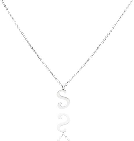 PHOENIX FOREVER Initial Necklaces: Titanium Steel Letter Necklaces For Women And Girls.