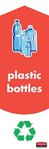 Rubbermaid Slim Jim Sticker Set for Plastic Bottle