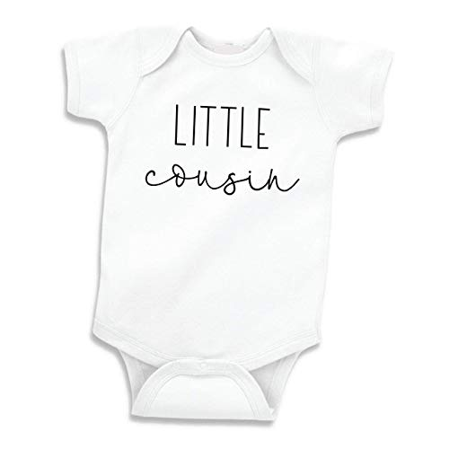 Bump and Beyond Designs Pregnancy Announcement to Family Little Cousin Gift (White 0-3 Months)