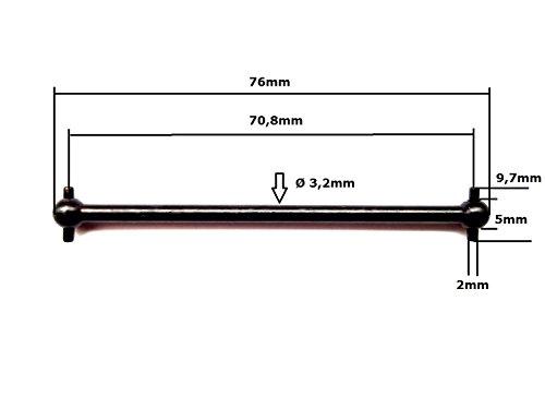 06006 Antriebswelle 70 mm 2 Stück