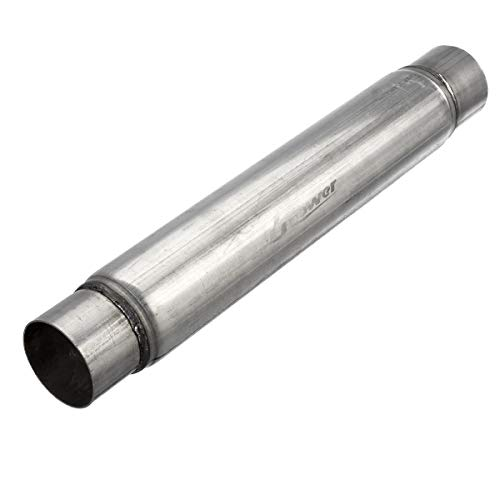 Upower 3 Inch Inlet and Outlet Exhaust Muffler Aluminized Glasspack Body Length 18' Overall Length 22'