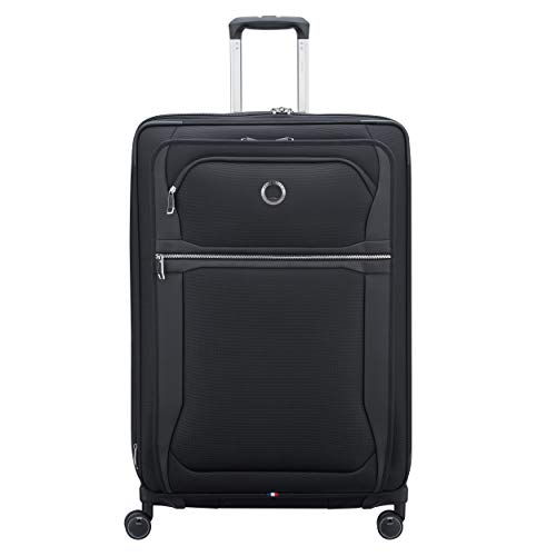 DELSEY Paris Executive Collection Softside Expandable Luggage with Spinner Wheels, Black, Checked-Large 29 Inch