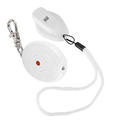 Llavero con control de voz antipérdida y multiusos resistente a los golpes, localizador de llaves ABS, liviano para billetera, llave para mascotas(white)