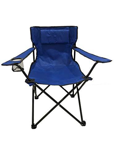 HOMECALL opvouwbare campingstoel, armleuning met bekerhouder, stoel voor buiten met kussen