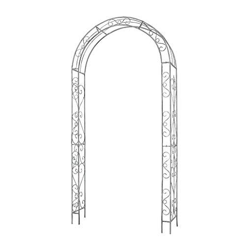 SHENXINCI Arco para Rosas,Hierro Forjado Antiguo Vintage Jardín Patio Terraza Planta Arcos el 117x236cm