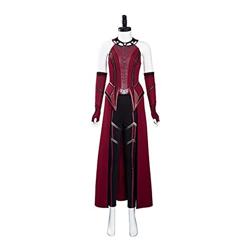 tggh Traje de juego de rol Wanda Vision Wandavision Disfraz de bruja escarlata Cosplay Trajes de Halloween Carnaval Traje (Color: Masculino, Talla: XXL)