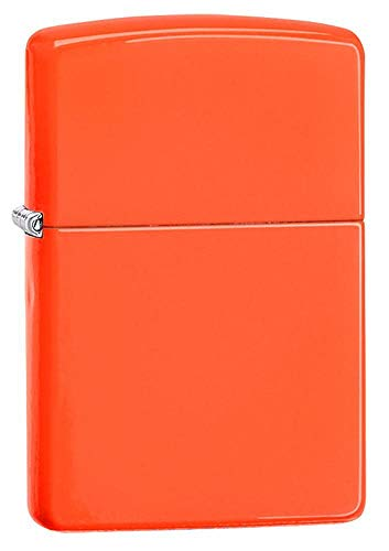 Zippo 60000477 Neon Orange Feuerzeug, Messing, one Size