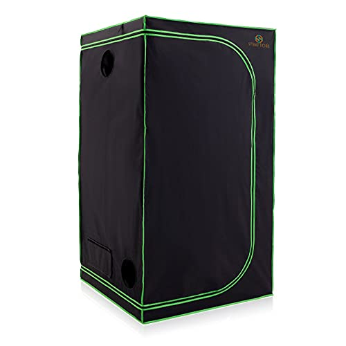 Strattore Armario de Cultivo/Grow Tent 100x100x200 cm - Hidroponía Lona Resistente a Prueba de luz y de rasgaduras - Impermeable Crecimiento rápido Cultivo de Plantas en Interiores - in Negro Verde