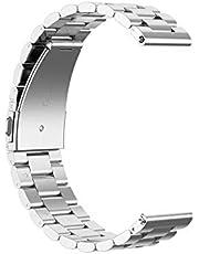 KNY 2125205664 Samsung Galaxy Watch 46mm (22mm) İçin Klasik Model Metal Kayış-Kordon, Gri
