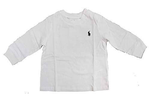 Ralph Lauren Baby Jungen Langarm-T-Shirts Authentic Gr. 24 Monate, weiß