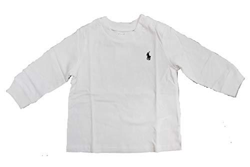 Ralph Lauren Baby Jungen Langarm-T-Shirt, authentisch Gr. 24 Monate, weiß