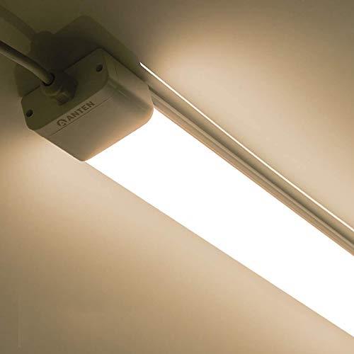 Anten 36W Feuchtraumleuchte LED 120 cm, Neutralweiß 4000 Kelvin, 2700-3300LM, wasserdichte Wannenleuchte mit Schutzklasse IP65 geeignet für Feuchtraum, Garage, Keller, Büro usw