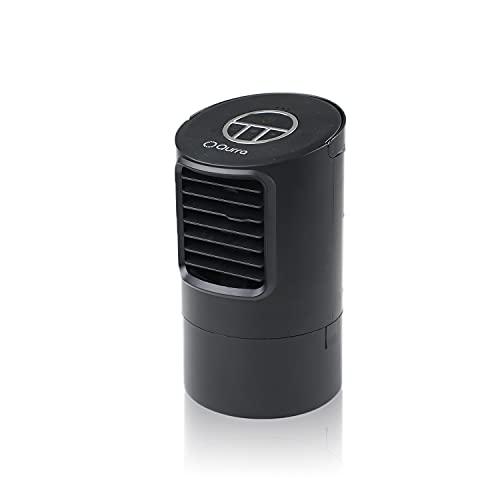 Qurra(クルラ) 気化式 冷風扇 ヒヤミスト Light 卓上 ミニクーラー ミニ 氷 水 保冷剤 ポータブル 小型 コンパクト タイマー 風量調整 3R SYSTEMS ブラック