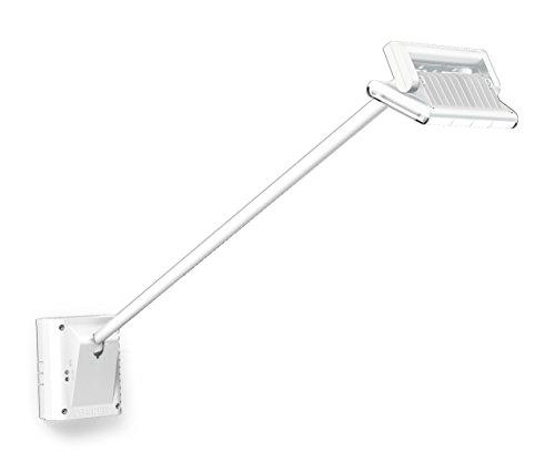 Steinel LED Strahler XLED FL-100 weiß, LED-Flächenstrahler mit Dämmerungssensor, Nightmatic-Funktion, für Werbeplakate