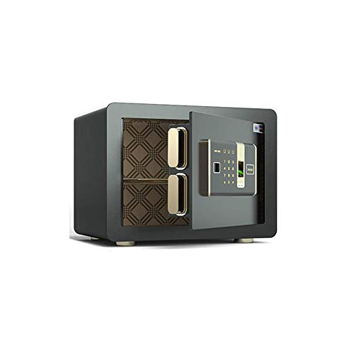 Pistol Safe, vingerafdruk + Key + Wachtwoord, Beveiliging Kluis Kluis 3C Certified kluis Home Small Safe Office, All Steel Anti-Theft Safe,Black