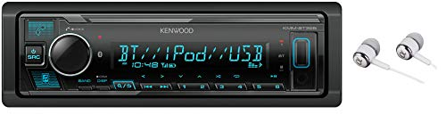 Kenwood Bluetooth USB MP3 WMA AM/FM Digital Media Player Dual Phone Connection Pandora Car Stereo Receiver/Free Alphasonik Earbuds