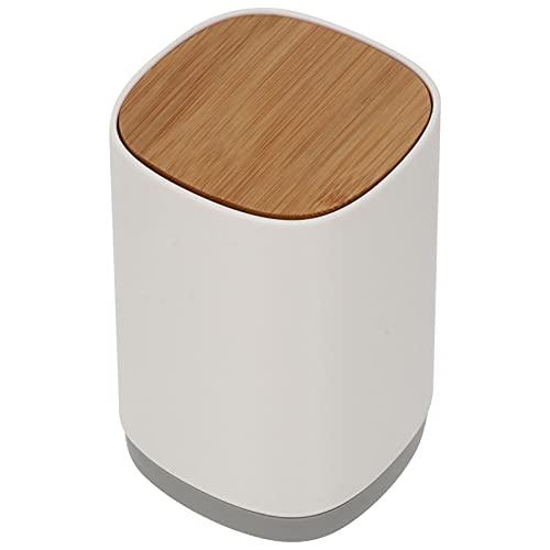 Hemoton - Porta stuzzicadenti automatico per stuzzicadenti da tavolo con scatola di stuzzicadenti divisa per stuzzicadenti in cotone