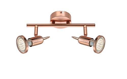 Zeitlose LED Strahler Kupfer matt Globo ANNE 54383-2