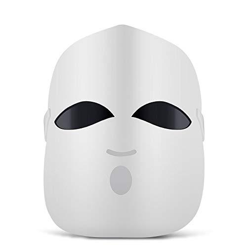 XMZWD Masque De Thérapie à Photons LED, Rouge pour éliminer Les Rides/Bleu pour éliminer L'acné Et Se Faner/Orange pour éclaircir La Couleur De La Peau