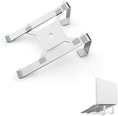 FFLSDR Laptop Stand Vertical LaptopLaptop Holder for Desk, Portable Notebook Stand, Travel Tablet Desktop Holder, for Laptop (10-17 inch) -Silver