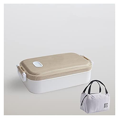 HMGANG Lunch Box Caja de Almuerzo de Acero Inoxidable Sencillez Home Office Camping Senderismo Senderismo a Prueba de Fugas Contenedor de Alimentos portátil Estudiante niño Bento Box
