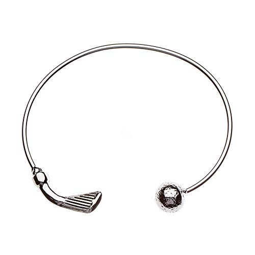 Sportybella Golf Bracelet, Golf Jewelry- Golf Cuff Bangle Bracelet for Female Golf Players