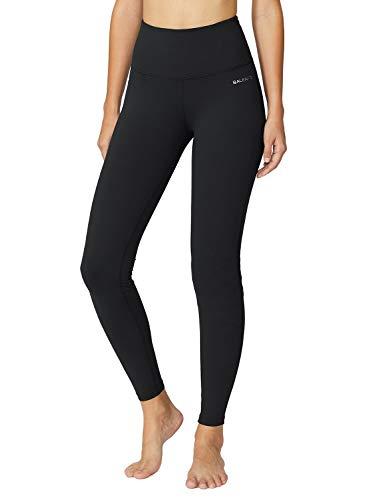 BALEAF Women's High Waist Legging Tummy Control Yoga Pants Running Tights Inner Pocket Black S