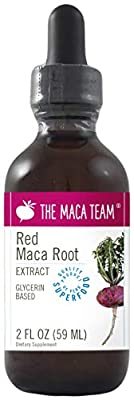 Red Maca Extract - 2 Fl Oz 59 ml - Fair Trade, GMO Free, Alcohol Vegan Made from Organic Roots Grown Traditionally in Peru - Suitable for Everyone