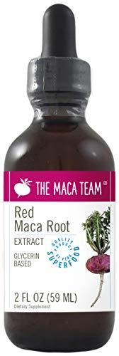 Rotes Maca Extrakt, flüssig – 59 ml – hergestellt aus biologischen roten Maca Wurzeln, traditionell angebaut und geerntet in Peru, Fair Trade, alkoholfrei, gentechnikfrei, vegan