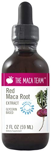 The Maca Team Red Maca Root Liquid Extract, Glycerin Based – Organic, Vegan, GMO-Free and Alcohol-Free, 2 Fl Oz., 59 ml