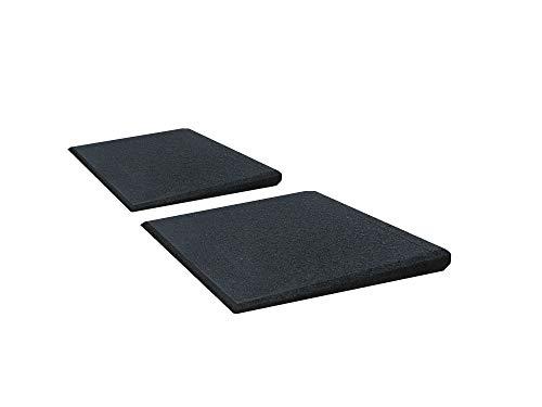Türschwellenrampen Set Excellent 250/25 mm hoch aus Gummigranulat hochverdichtet (schwarz)