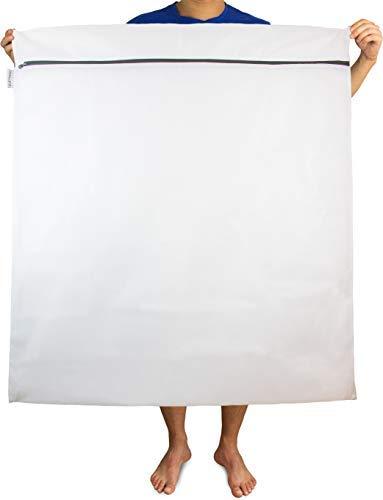 LIEBLINGS Ding Wäschenetz extra groß für Waschmaschine, 100 x 90 cm (XXL-Netz neu) - Weiss-schwarz