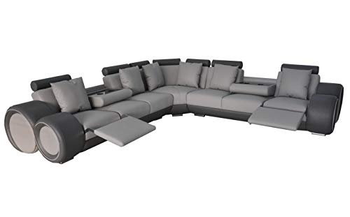 JVmoebel Ecke Leder Modern XXL Couch Wohnlandschaft Ledersofa Sofa L-Form A1163 III