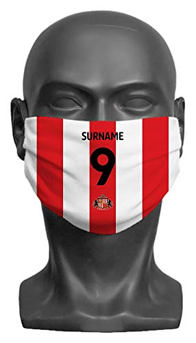 Personalised Sunderland AFC Back Of Shirt Adult Face Mask (Large)