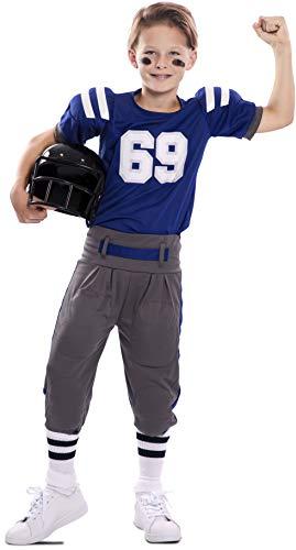 EUROCARNAVALES Disfraz de Fútbol Americano Super Bowl para niño 7 a 9 años