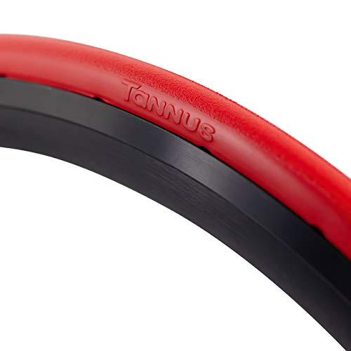 Tannus Tire Cubierta Sólida Airless 700x23c (23-622) Slick | Neumático Macizo Sin Aire 100% Antipinchazos, Bici Carretera, Color Volcano (Rojo), Dureza Hard